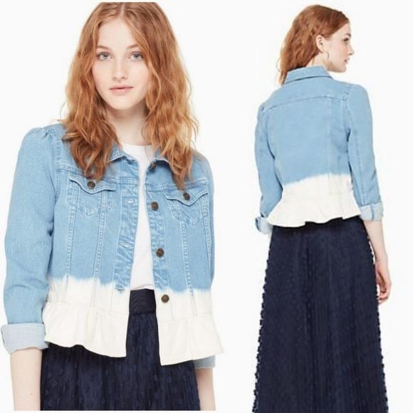 Kate Spade   Dip Dye Denim Jacket